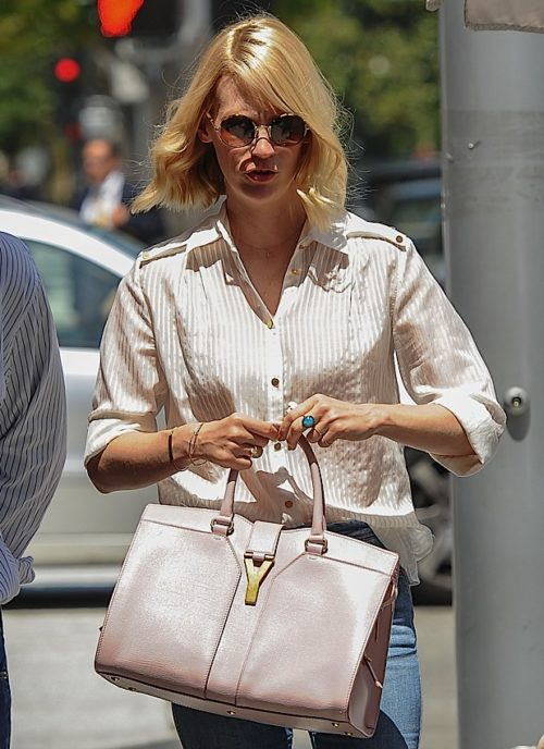 January Jones Chyc Cabas YSL bag