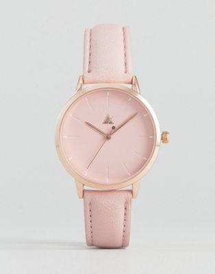 Reloj rosa con esfera en relieve ASOS
