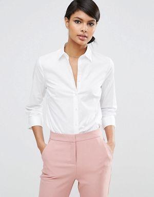 Camisa de manga 3/4 de algodón elástico de ASOS DESIGN