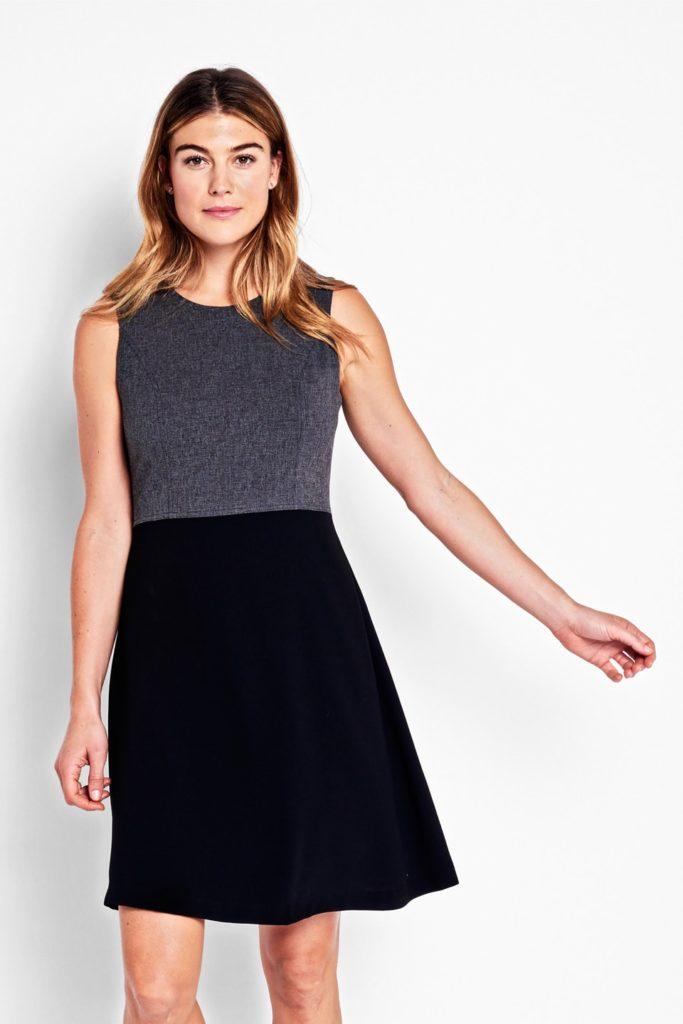 Vestido bicolor. su costura de la cintura elevada adelgaza la figura alarga tus piernas. Of Mercer