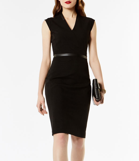 Vestido sastre negro de tubo. Karen Millen